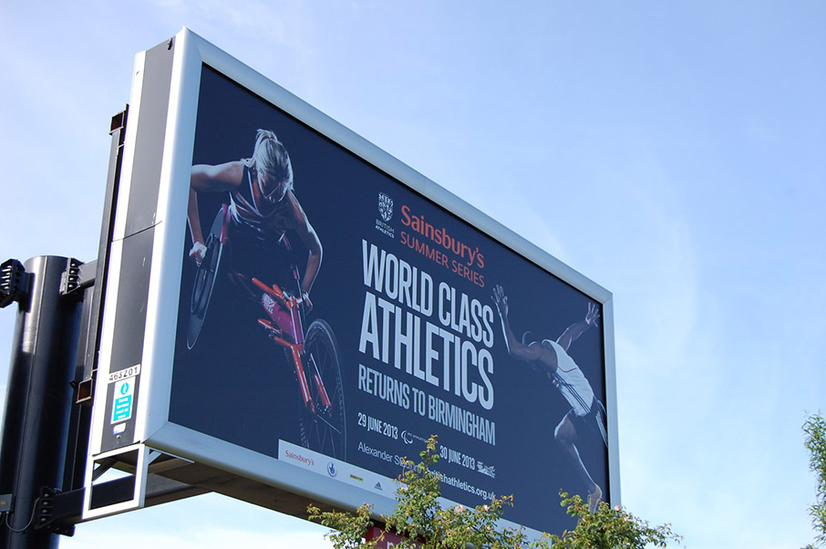 British Athletics Summer Series Marketing Outdoor Billboard | Jask Creative