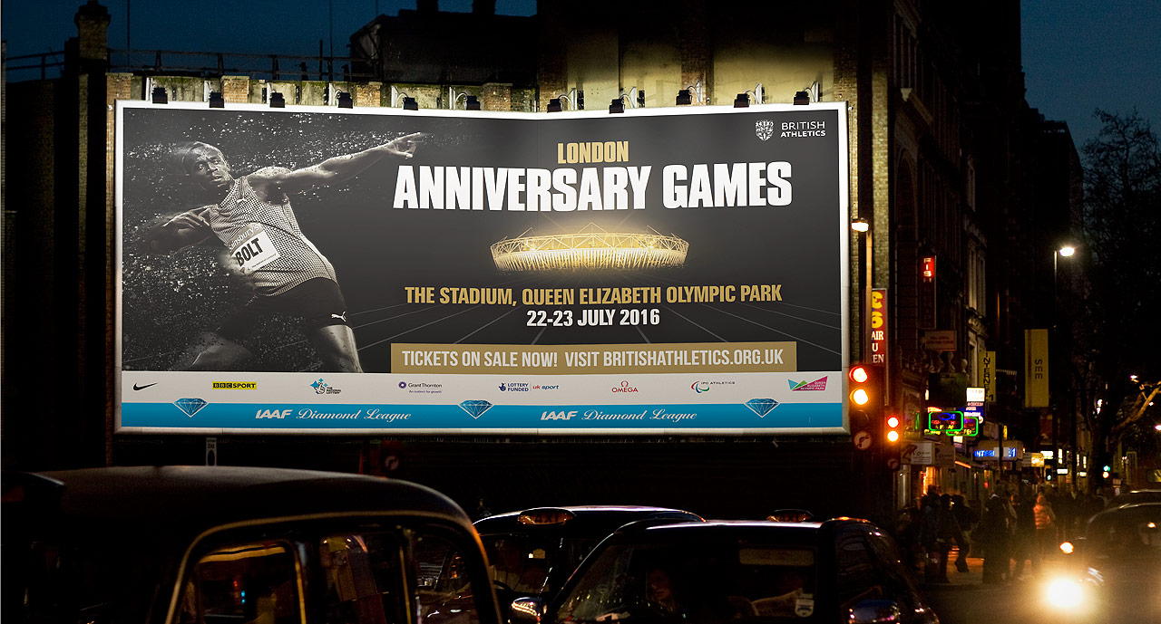 London Anniversary Games 2016 Billboard Display | Jask Creative
