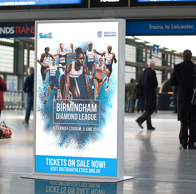 Birmingham Diamond League 2016 Digital Display | Jask Creative