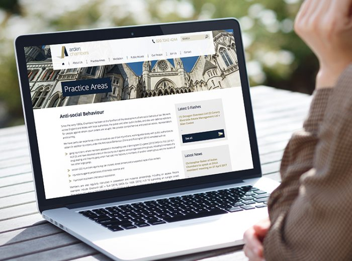 Legal Sector Marketing | St. Arden Chambers website by Jask Creative