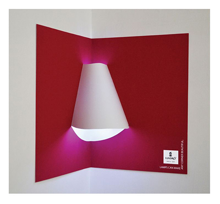 Lladro lighting magazine advert