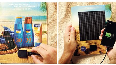Nivea solar panel magazine advert