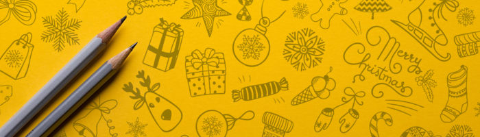 Christmas campaigns Illustrations with pencils
